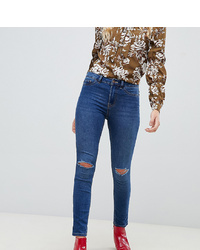 Jean skinny déchiré bleu New Look Tall
