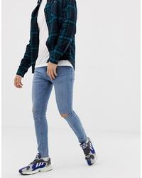 Jean skinny déchiré bleu Pull&Bear