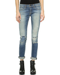 Jean skinny déchiré bleu Rag and Bone