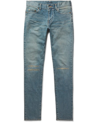 Jean skinny déchiré bleu Saint Laurent