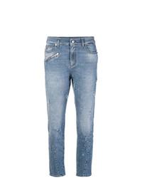 Jean skinny déchiré bleu Versace Jeans