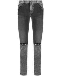 Jean skinny déchiré gris foncé Dolce & Gabbana