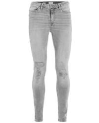 Jean skinny déchiré gris