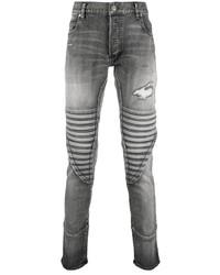 Jean skinny déchiré gris Balmain