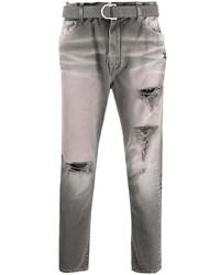 Jean skinny déchiré gris Off-White
