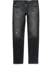 Jean skinny déchiré noir AG Jeans