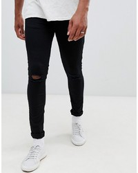 Jean skinny déchiré noir New Look