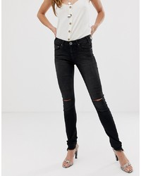 Jean skinny déchiré noir One Teaspoon