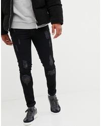 Jean skinny déchiré noir Voi Jeans