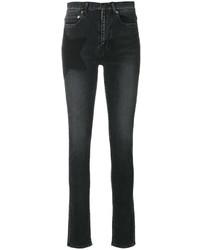Jean skinny en coton à étoiles noir Saint Laurent
