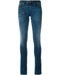Jean skinny en coton bleu canard Diesel