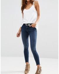 Jean skinny en coton bleu marine Asos