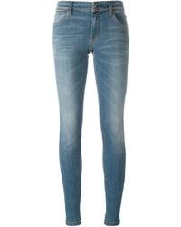 Jean skinny en coton bleu Burberry