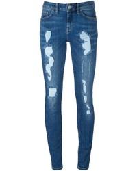 Jean skinny en coton bleu Tommy Hilfiger