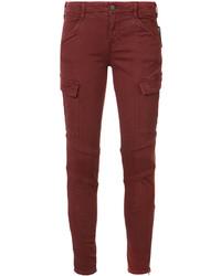 Jean skinny en coton bordeaux J Brand
