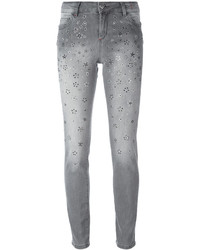 Jean skinny en coton gris Twin-Set