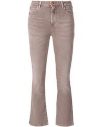 Jean skinny en coton marron clair Closed