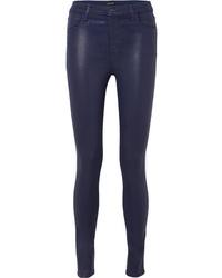 Jean skinny en cuir bleu marine J Brand