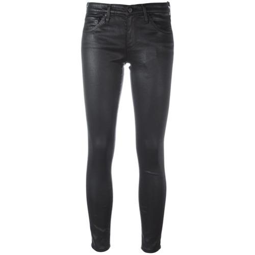 Jean skinny en cuir noir AG Jeans