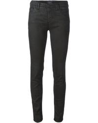 Jean skinny en cuir noir Armani Jeans