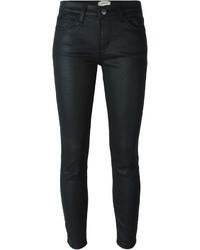 Jean skinny en cuir noir Current/Elliott