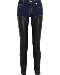 Jean skinny en cuir noir Givenchy