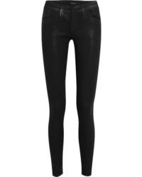 Jean skinny en cuir noir J Brand