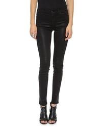 Jean skinny en cuir noir Koral