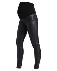Jean skinny en cuir noir Mamalicious
