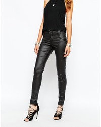 Jean skinny en cuir noir Noisy May