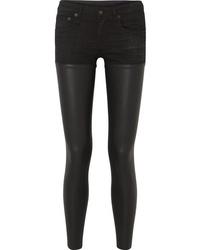 Jean skinny en cuir noir R13