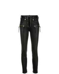 Jean skinny en cuir noir Unravel Project