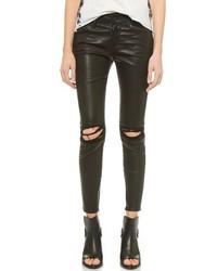 Jean skinny en cuir