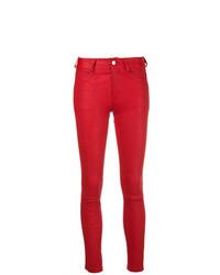 Jean skinny en cuir rouge Zadig & Voltaire