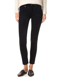 Acheter jean skinny en velours côtelé bleu