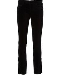 Jean skinny en velours noir