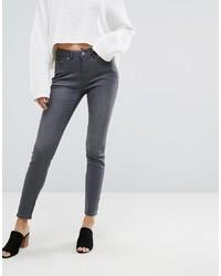 Jean skinny gris foncé Esprit