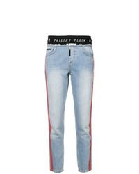 Jean skinny imprimé bleu clair Philipp Plein