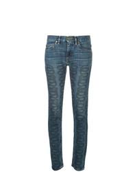 Jean skinny imprimé bleu Hysteric Glamour