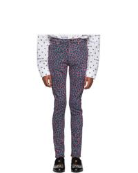 Jean skinny imprimé léopard fuchsia Gucci