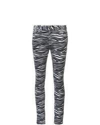 Jean skinny imprimé noir et blanc Saint Laurent