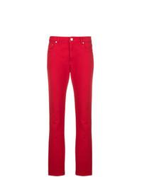 Jean skinny imprimé rouge MSGM