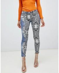 Jean skinny imprimé serpent multicolore ASOS DESIGN