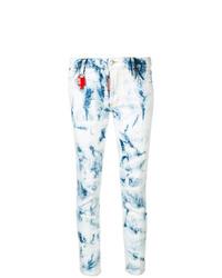 Jean skinny imprimé tie-dye bleu clair Dsquared2