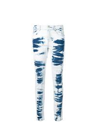 Jean skinny imprimé tie-dye bleu clair Stella McCartney