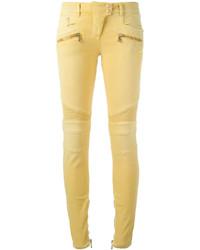 Jean skinny jaune Balmain