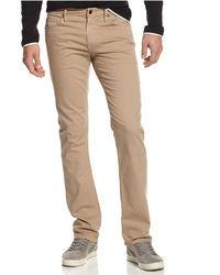 Jean skinny marron clair