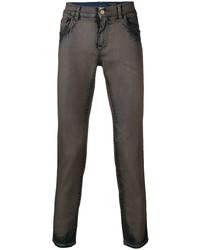 Jean skinny marron foncé Dolce & Gabbana