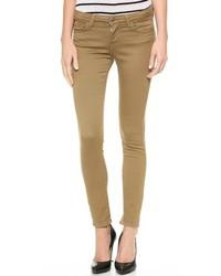 Jean skinny marron
