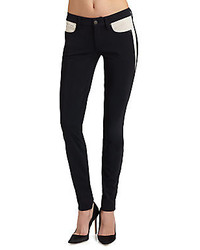 Jean skinny noir et blanc